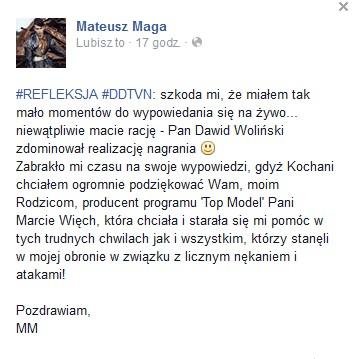 Marcin Tyszka dobija Mateusza Magę...