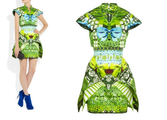 Paris Hilton w kolorowej sukience Mary Katrantzou