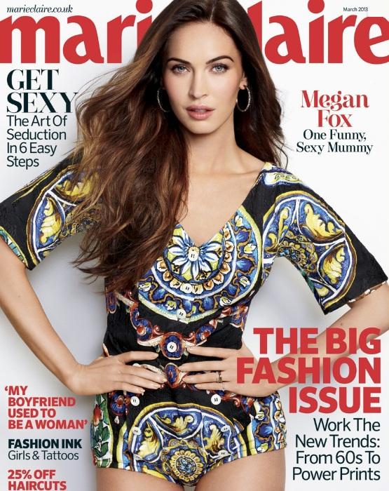 Megan Fox na okładce marcowego wydania Marie Clarie UK