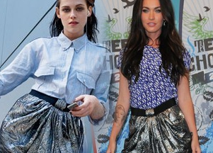 Megan Fox w mini Isabel Marant
