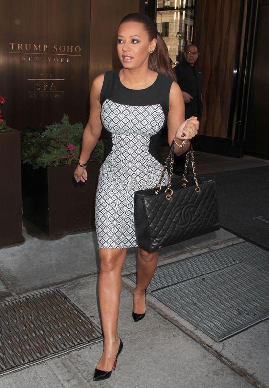 Mel B w ołówkowej sukience (FOTO)