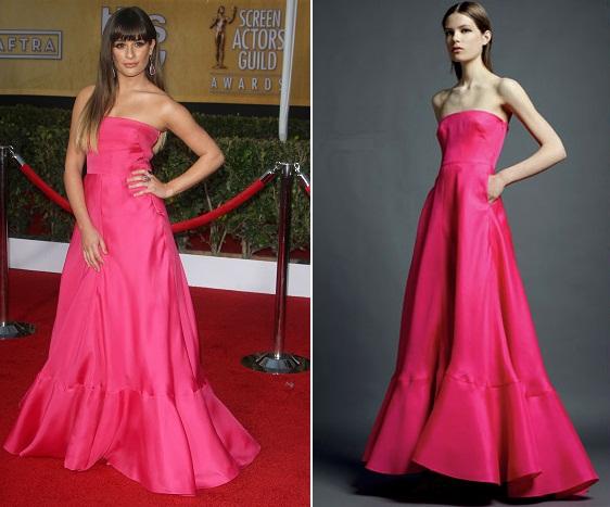 Lea Michele w różowej sukni Valentino