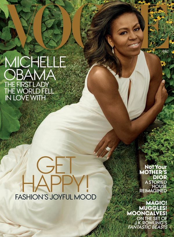 Michelle Obama w kreacji od Caroliny Herrery na okładce Vogue!