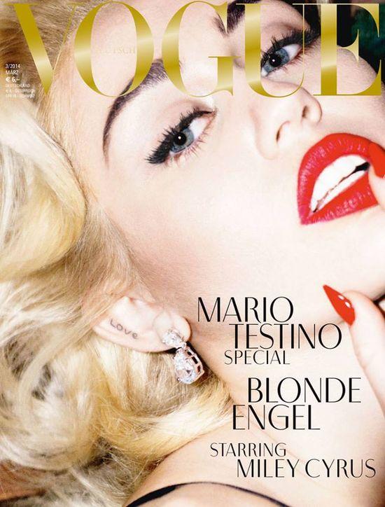 Miley Cyrus na okładce Vogue'a! (FOTO)