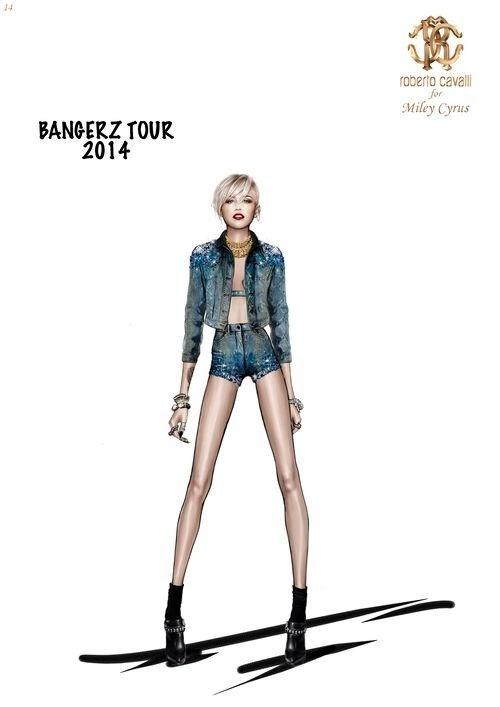 Roberto Cavalli zaprojektował kostiumy dla Miley Cyrus