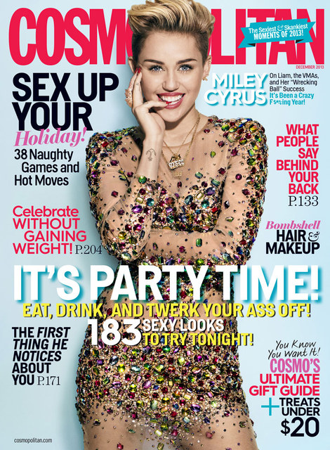 Miley Cyrus gwiazdą grudniowego Cosmo (FOTO)