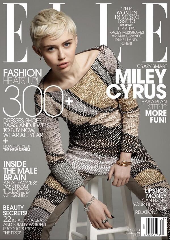 Miley Cyrus na okładce Elle we wdzianku za 13 tys. dolarów!