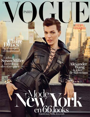 Milla Jovovich na okładce lutowego wydania Vogue Paris