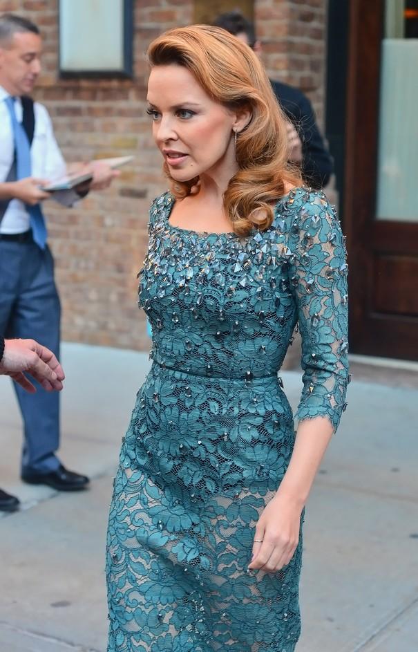 Kylie Minogue w sukni Dolce&Gabbana