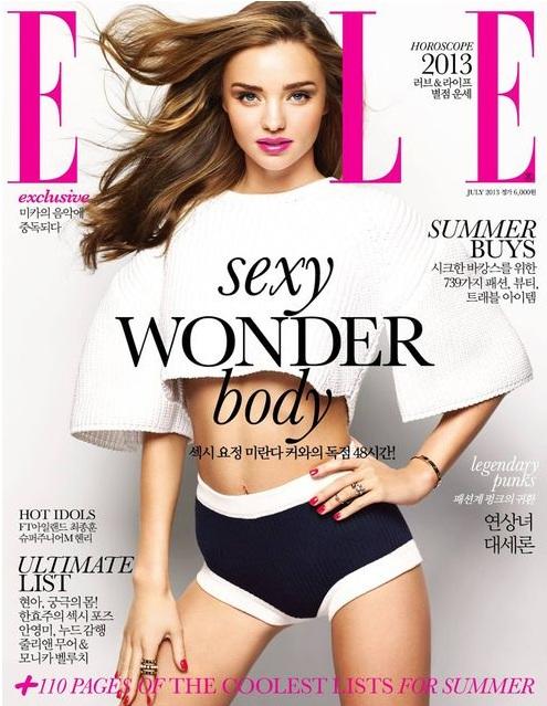 Seksowna Miranda Kerr na okładce Elle