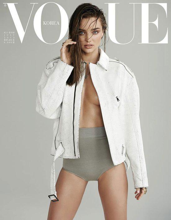 Miranda Kerr topless w Vogue Korea