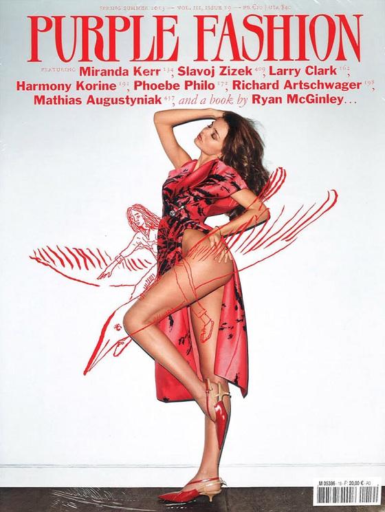 Seksowna Miranda Kerr na okładce Purple Fashion