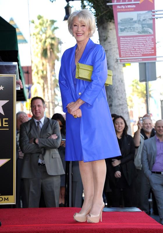 Helen Mirren odsłoniła swoją gwiazdę w Alei Sław w Hollywood