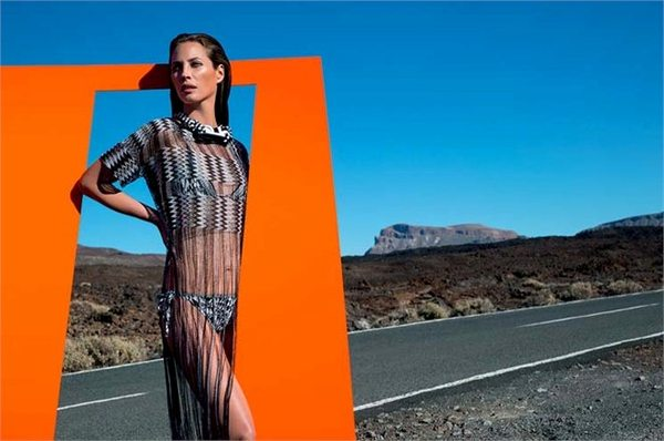 Christy Turlington w kampanii Missoni