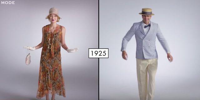 100 lat mody damskiej vs.100 lat mody meskiej (FOTO)