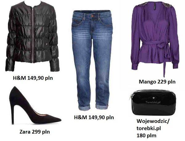 Modne połączenie: fiolet plus jeans