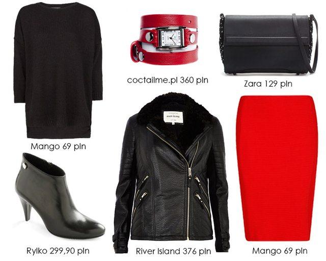 Czerwony plus czarny - mix, który nigdy nie wychodzi z mody