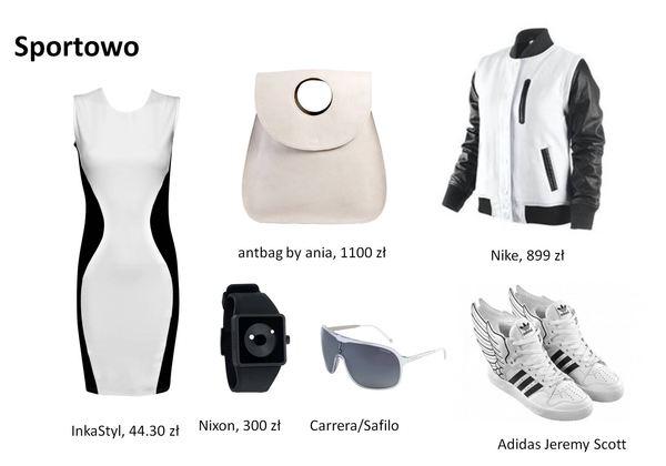 Modne stylizacji w czerni i bieli