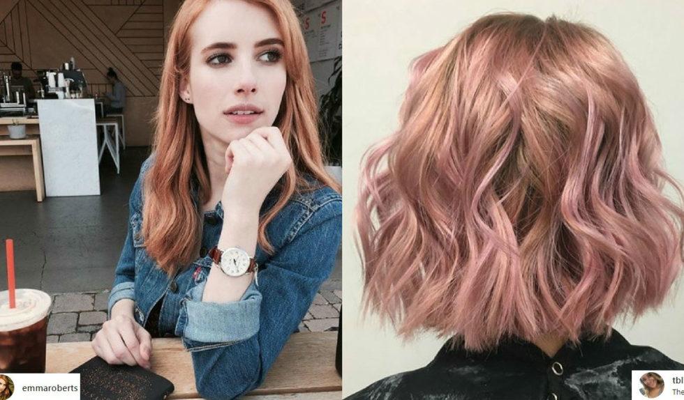 Uwaga Modna Koloryzacja Włosy W Kolorze Różanego Złota