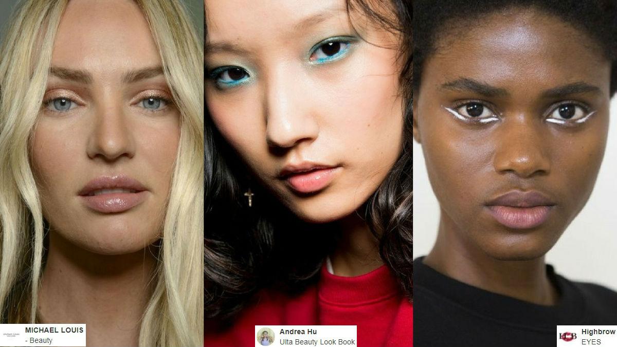 2344c83290984 Najmodniejsze makijaże na wiosnę 2018! Inspiracje z wybiegów ...