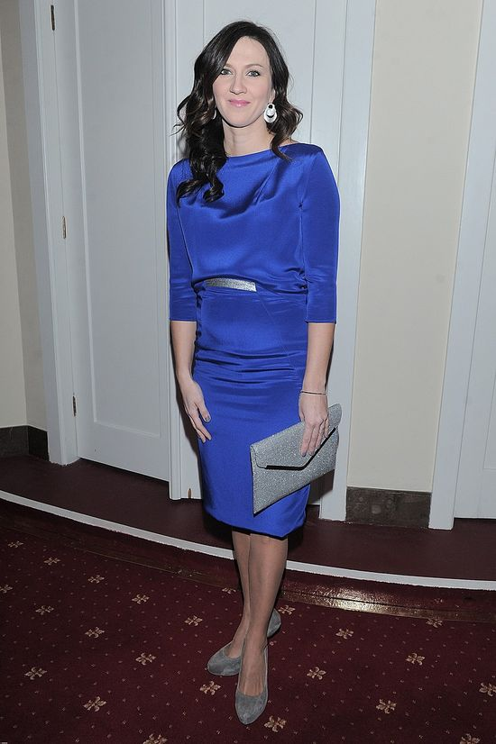 Monika Pyrek w kobaltowej sukni (FOTO)