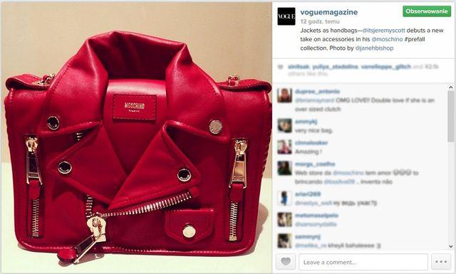 Żakietowe torebki Moschino będą nowym hitem? (FOTO)