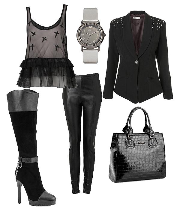 Moda z wybiegu: mroczny glamour