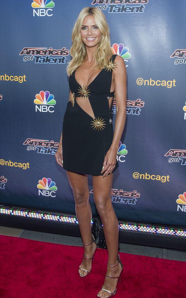 Heidi Klum błyszczała niczym gwiazda na czerwonym dywanie