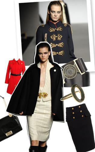 moda, styl militarny, napoleon, retro, ubranie, wygląd, styl