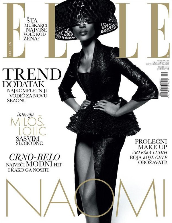 Naomi Campbell w Elle Serbia