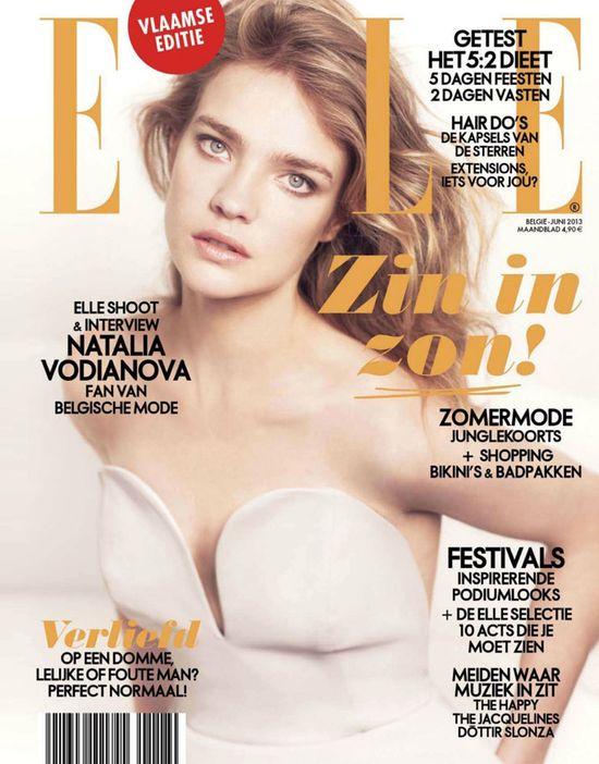 Subtelna Natalia Vodianova dla Elle