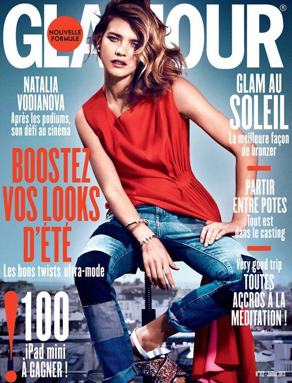 Natalia Vodianova na okładce francuskiego Glamour