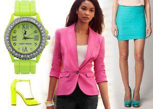 Neonowe ubrania i dodatki