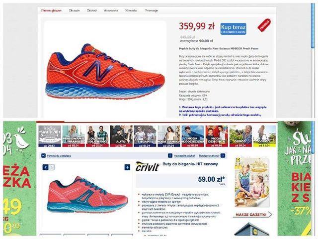 Lidl kopiuje New Balance. Sportowa marka odgryza się na FB