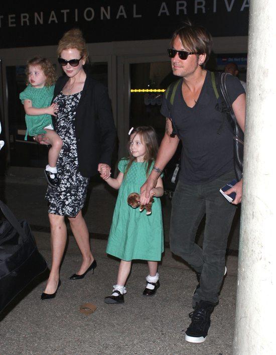 Lotniskowy szyk Nicole Kidman i jej rodziny