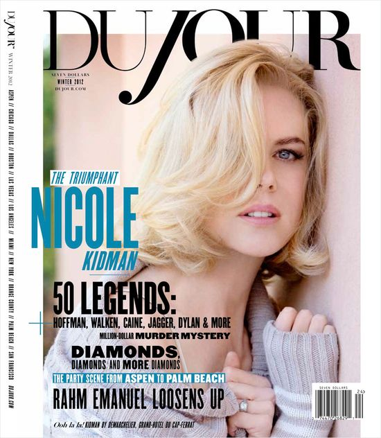 Nicole Kidman gwiazdą DuJour Winter 2012