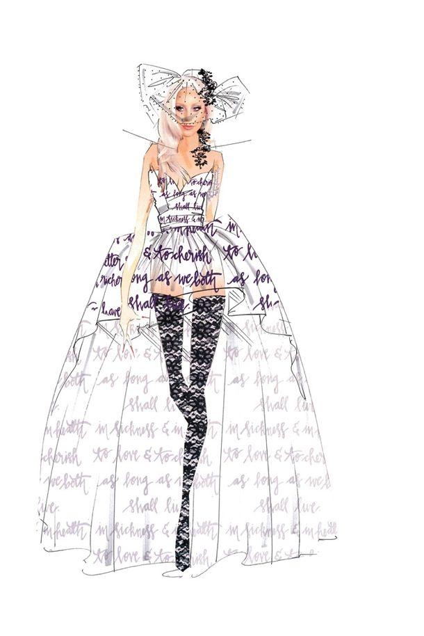 Są już szkice sukni ślubnej dla Lady Gagi! (FOTO)