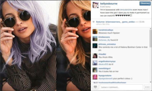 Nicole Richie jednak przefarbowała włosy na fioletowo!