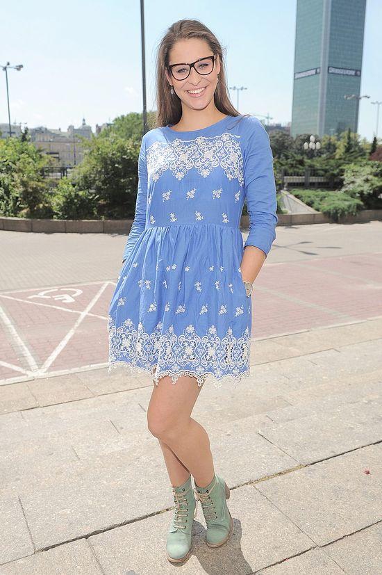Anna Szymańczyk w błękitnej sukience (FOTO)