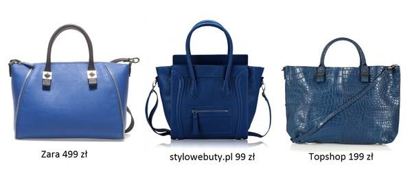 Przegląd niebieskich torebek