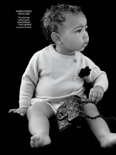 Roczna North West (córka Kim i Kanye) została modelką!