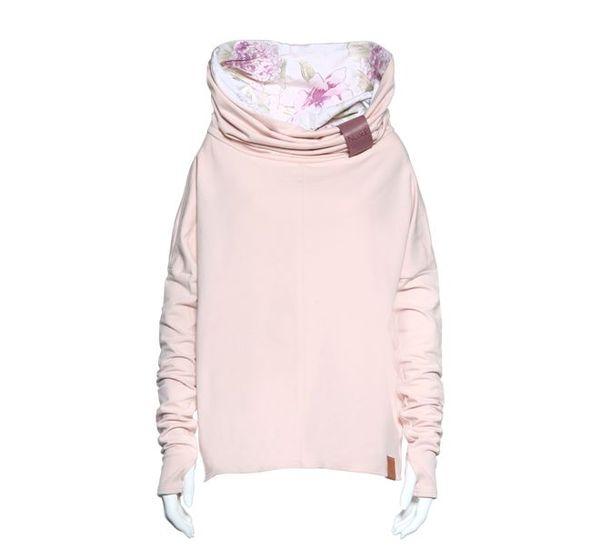 Wiosenna garderoba i jej obowiązkowy element - pudrowo-różowa bluza - przegląd