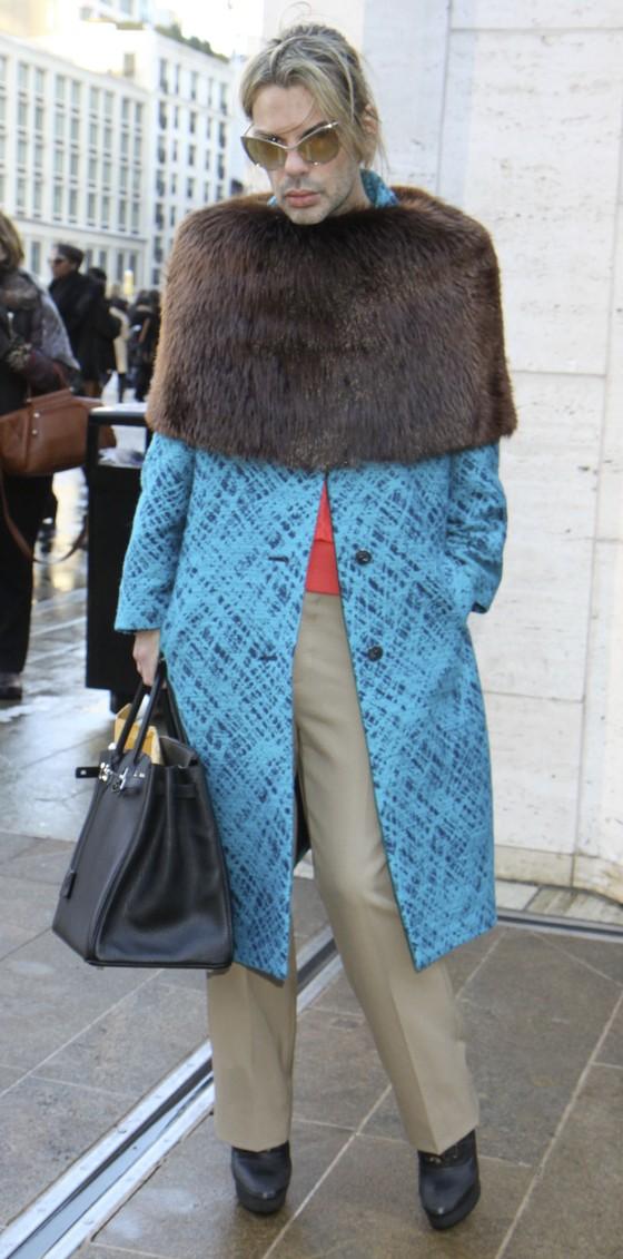 Mężczyźni w futrach na NY Fashion Week