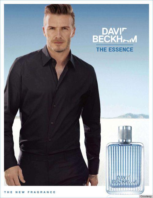 David Beckham w kampanii wody kolońskiej The Essence
