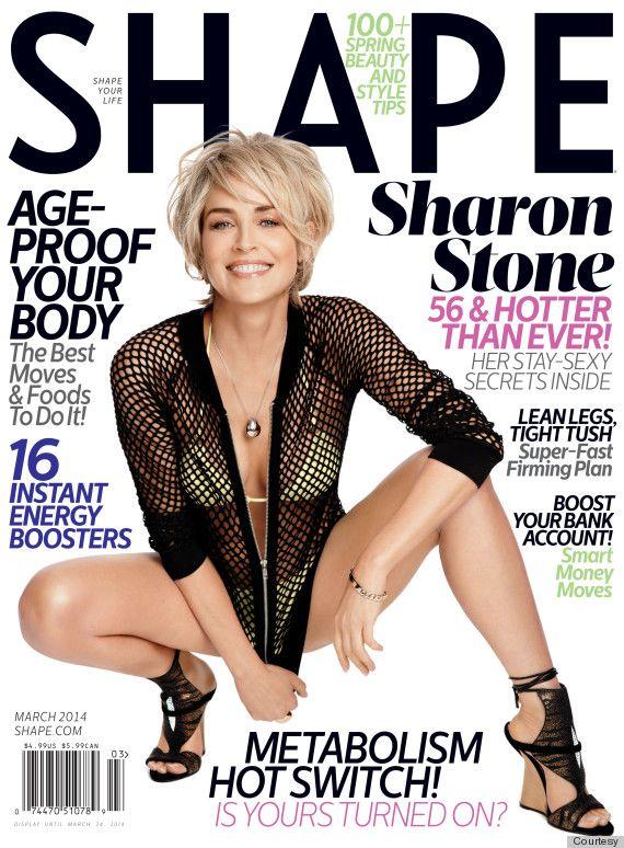 Wielkie WOW: Sharon Stone na okładce Shape (FOTO)