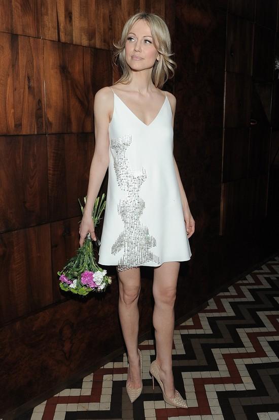 Magdalena Ogórek na pokazie LaMania wyglądała jak w halce