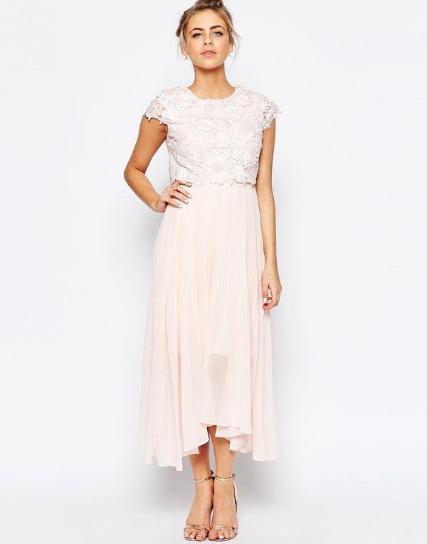W co się ubrać na wesele? Pastelowe koronkowe sukienki z Asos