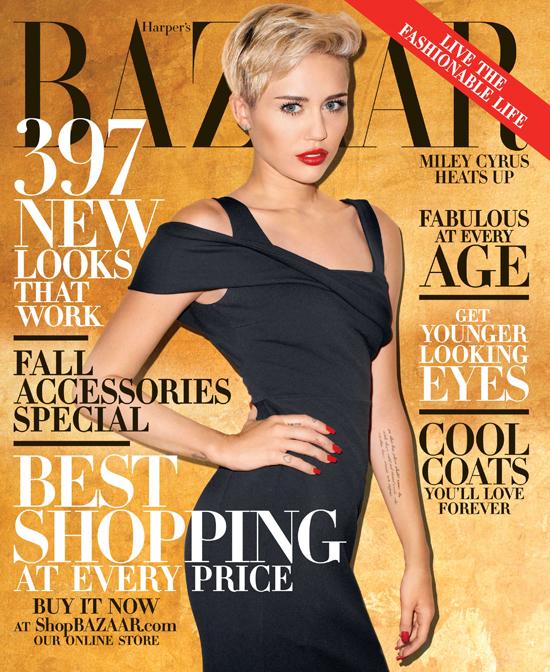 Miley Cyrus na okładce Harper's Bazaar (FOTO)