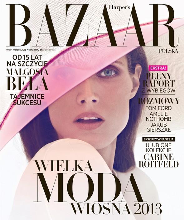 Małgosia Bela na okładce marcowego numeru Harper's Baazar Po