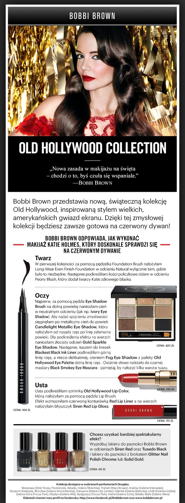 Bobbi Brown - kolekcja Old Hollywood (FOTO)